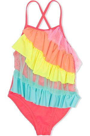 adidas Ruffled overlay swimsuit