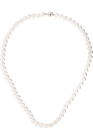 adidas 18kt white gold Classic Akoya pearl necklace - 7