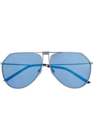 Dolce & Gabbana Angled aviator-frame sunglasses - Metallic