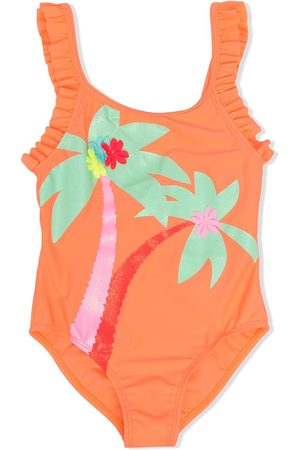 adidas Palm tree ruffled one-piece