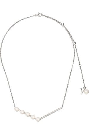 adidas 18kt white gold Trend Freshwater pearl and diamond necklace - 7