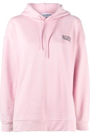 adidas Logo-embroidered long-sleeve hoodie