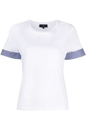 adidas Striped cuff cotton T-shirt