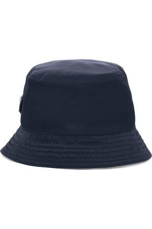 Prada Men Hats - Logo-plaque bucket hat