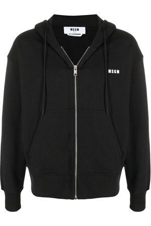 adidas Logo print zip-up hoodie