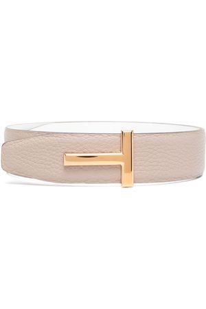 Tom Ford Women Belts - T logo buckle belt - Neutrals