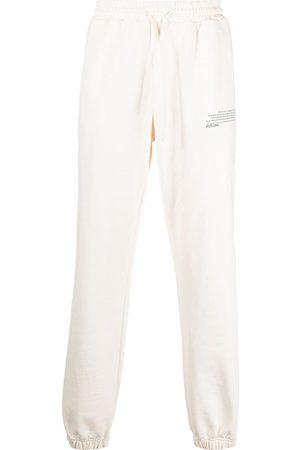 Msgm Men Sweatpants - Logo-print track pants - Neutrals