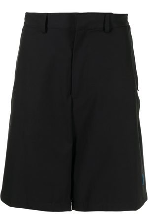 adidas Two-tone logo-patch shorts