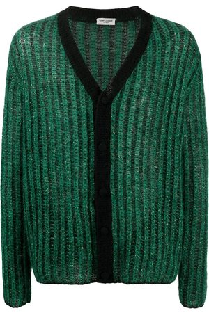 adidas Metallic ribbed-knit cardigan