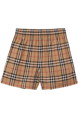 adidas Vintage Check side-stripe shorts - Neutrals