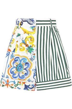 Dolce & Gabbana Women Shorts - Patchwork high-waisted shorts
