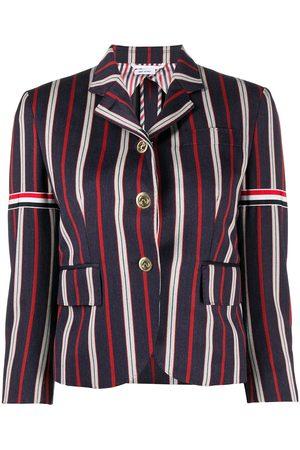 adidas 3/4 sleeves striped blazer