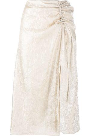 adidas Ruched-detail midi skirt - Neutrals