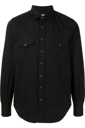 adidas Pointed collar Western denim shirt