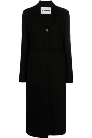 adidas Single-breasted belted coat