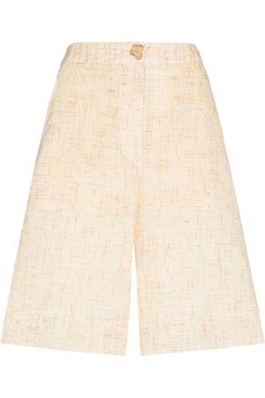 REJINA PYO Riley high-waist tweed shorts - Neutrals