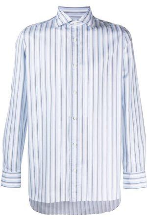 Borrelli Men Long sleeves - Stripe-print long-sleeved shirt