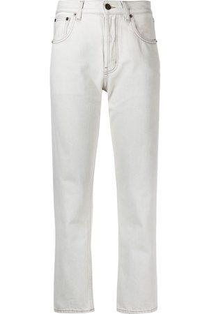 adidas High-waist slim-leg jeans - Grey