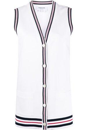 adidas Cricket Stripe Varsity Sport buttoned vest