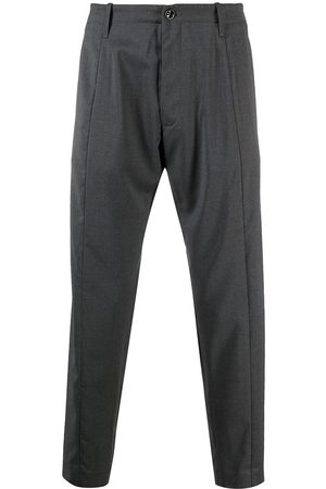 Nine In The Morning Men Pants - Tapered cropped trousers - Grey