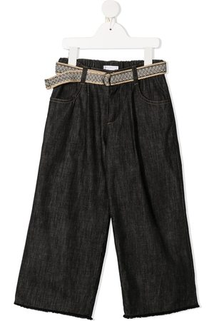 adidas High-rise belted straight-leg trousers