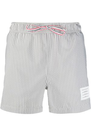 adidas Seersucker-print swim shorts - Grey