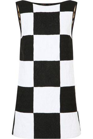 adidas Patchwork jacquard sleeveless dress