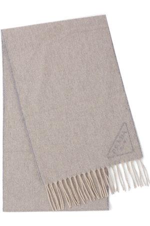 Prada Scarves - Intarsia-logo scarf - Grey