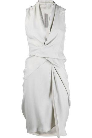 adidas Sleeveless draped midi dress - Grey