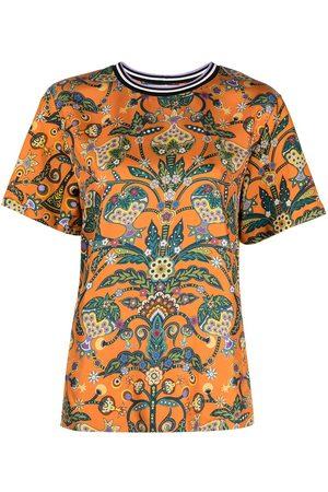 adidas Sciura contrast-collar T-shirt
