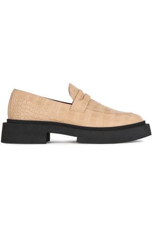 Giuseppe Zanotti Crocodile-effect chunky sole loafers - Neutrals