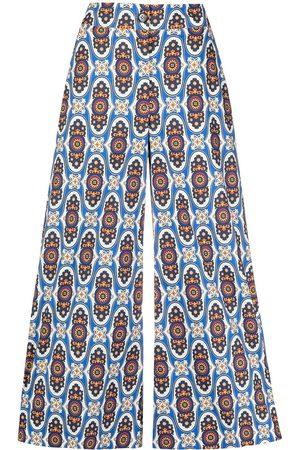 La DoubleJ Women Culottes - Geometric print high-waisted culottes