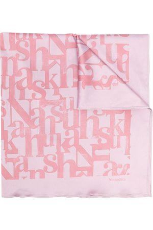 Nanushka Women Hair Accessories - Soleil bandana silk scarf