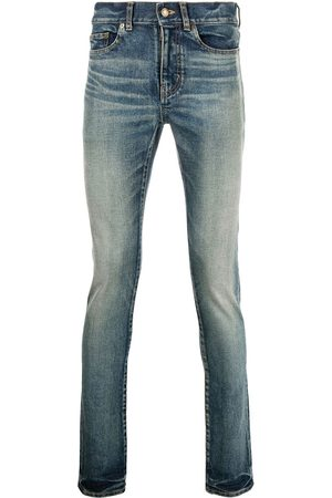 Saint Laurent Whiskering-effect skinny jeans