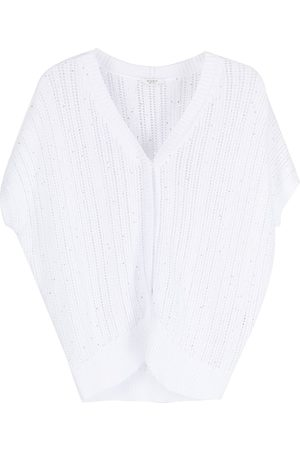 adidas Sequinned open-knit cardigan