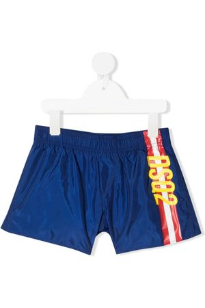 adidas Side-stripe drawstring swim shorts