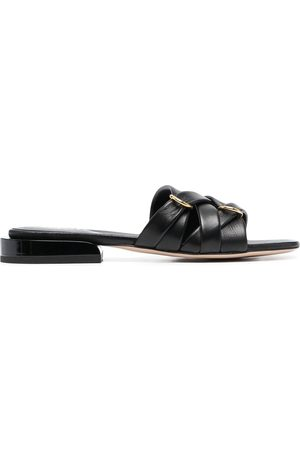 adidas Lara leather slides