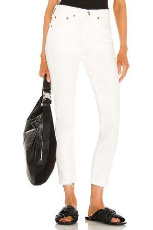 adidas Women 501 Skinny in White.