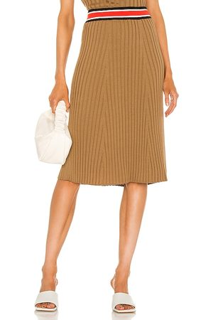 adidas Cashmere Silk Pull On Skirt in Tan.