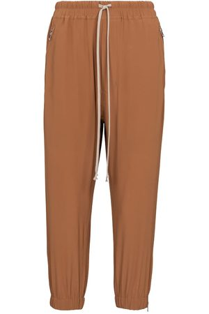adidas Astaires silk-blend trackpants