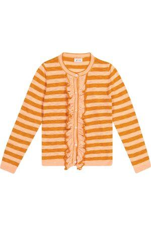 adidas Nacho striped cotton-blend cardigan