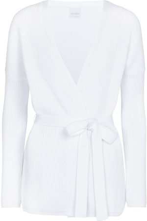 adidas Leisure Cavallo belted cotton-blend cardigan