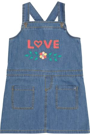 adidas Embroidered denim overall dress