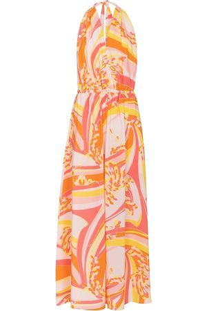 adidas Printed halterneck maxi dress