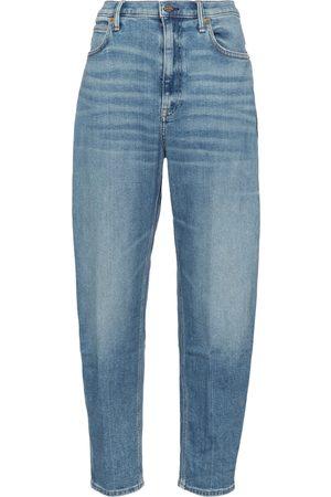 adidas High-rise boyfriend jeans