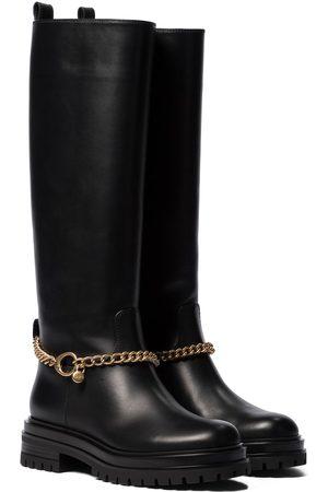 adidas Fallon leather knee-high boots