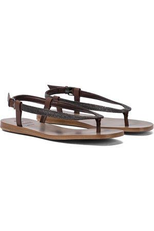 adidas Embellished leather sandals