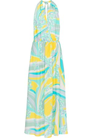 adidas Lilly printed halterneck maxi dress