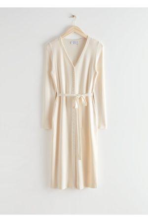 adidas Women Midi Dresses - Belted Cardigan Midi Dress