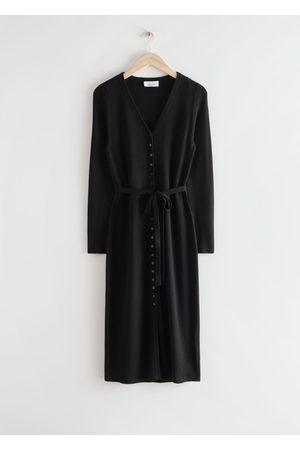 adidas Belted Cardigan Midi Dress